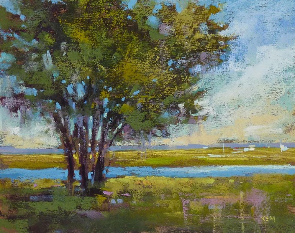 """""""Do You Have Phylliosis? The Cure for Spotty Trees"""" original fine art by Karen Margulis"""