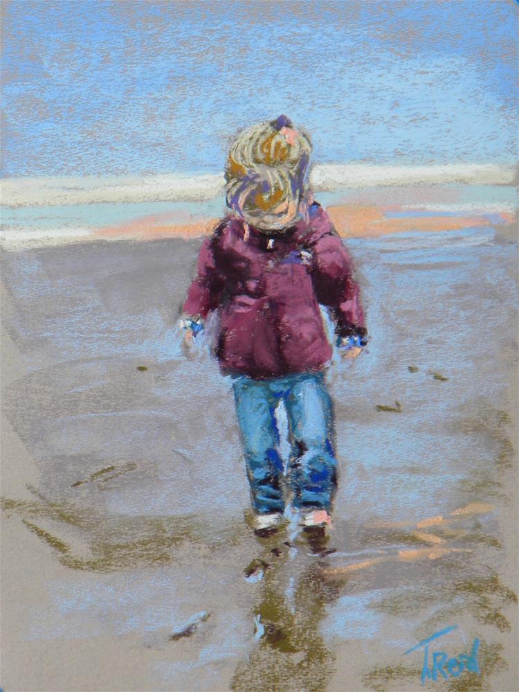 """""""First Ocean Day"""" original fine art by Toby Reid"""