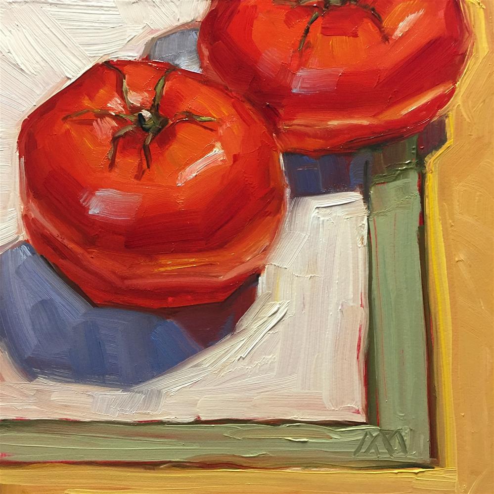 """Two Tomatoes"" original fine art by Austin Maloney"