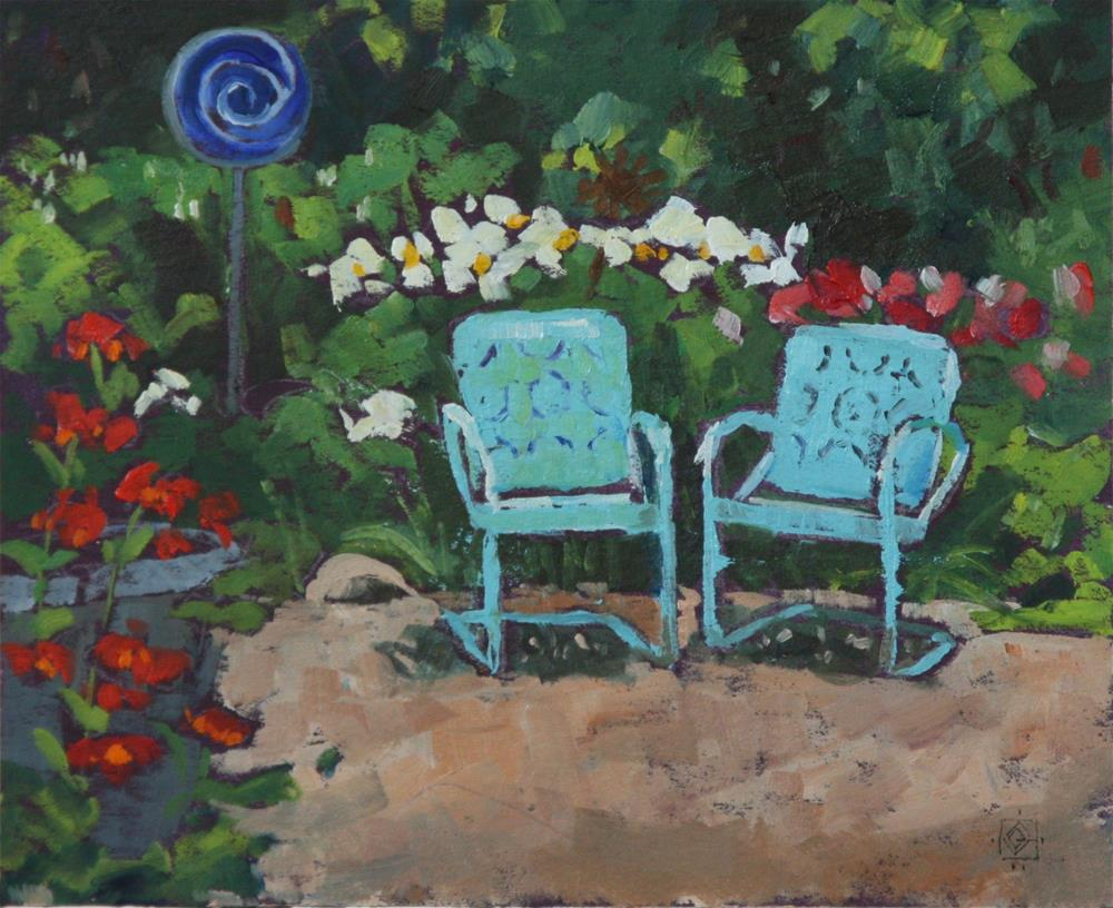 """Garden Rest"" original fine art by Carol Granger"