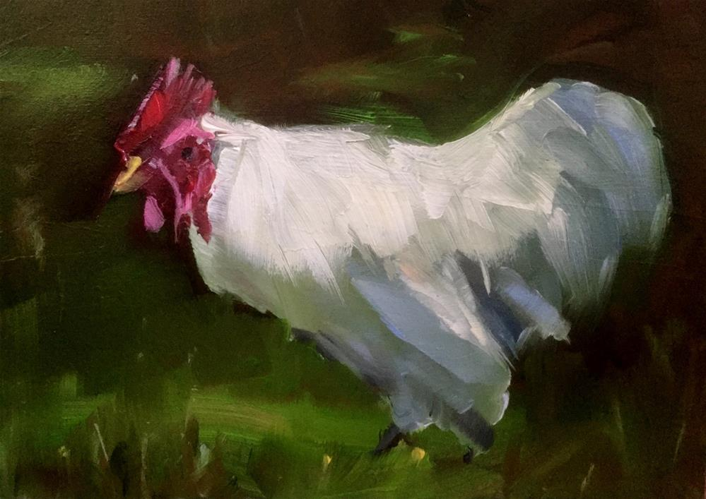"""Barnyard King"" original fine art by Gary Bruton"