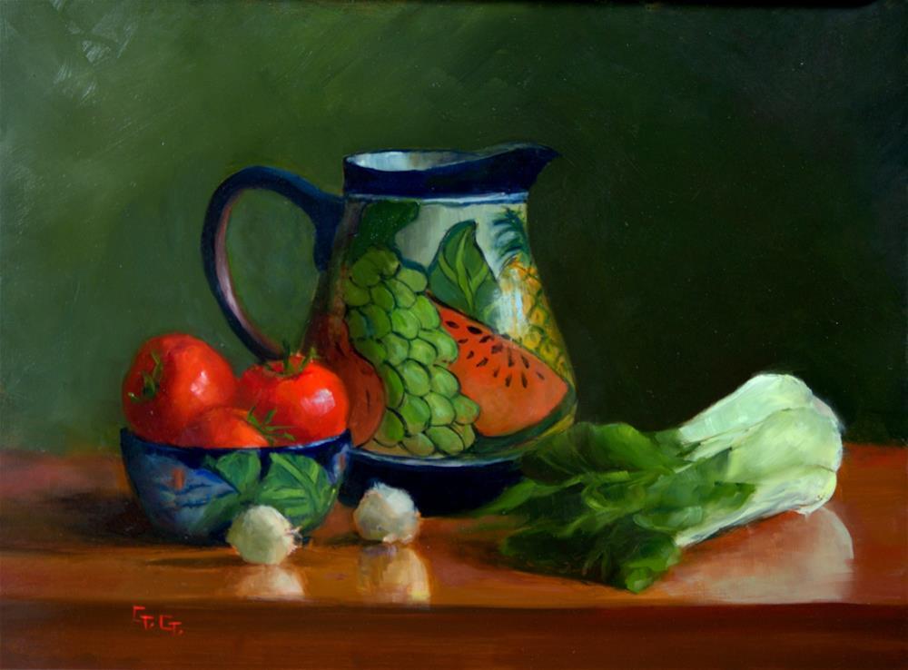 """Baby Bok Choy"" original fine art by Gail G. Slockett"