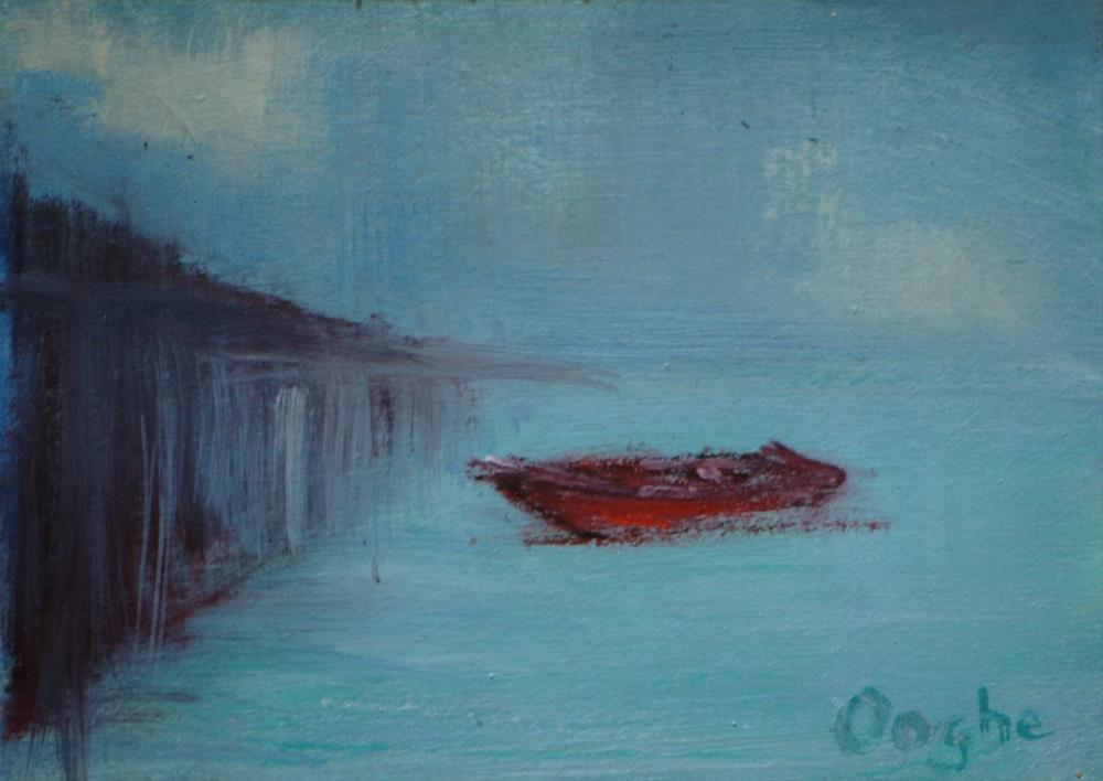 """Red Boat ACEO"" original fine art by Angela Ooghe"