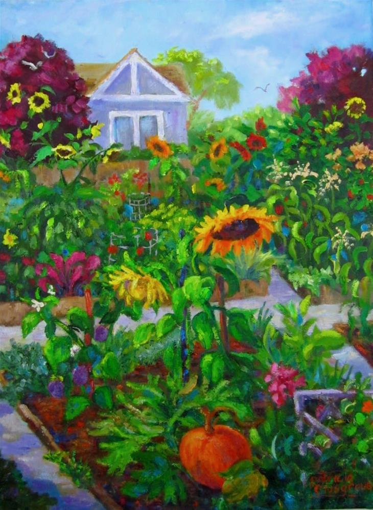 """Late Summer, Community Garden"" original fine art by Patricia Musgrave"