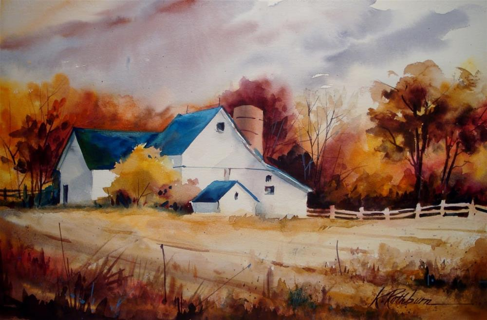 """Fall on the Farm"" original fine art by Kathy Los-Rathburn"