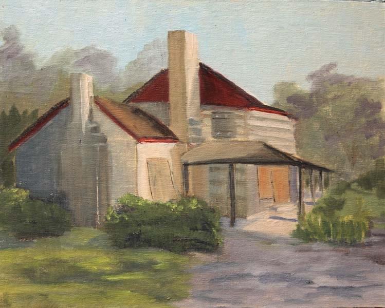 """""""Dies Ranch House"""" original fine art by Jane Frederick"""