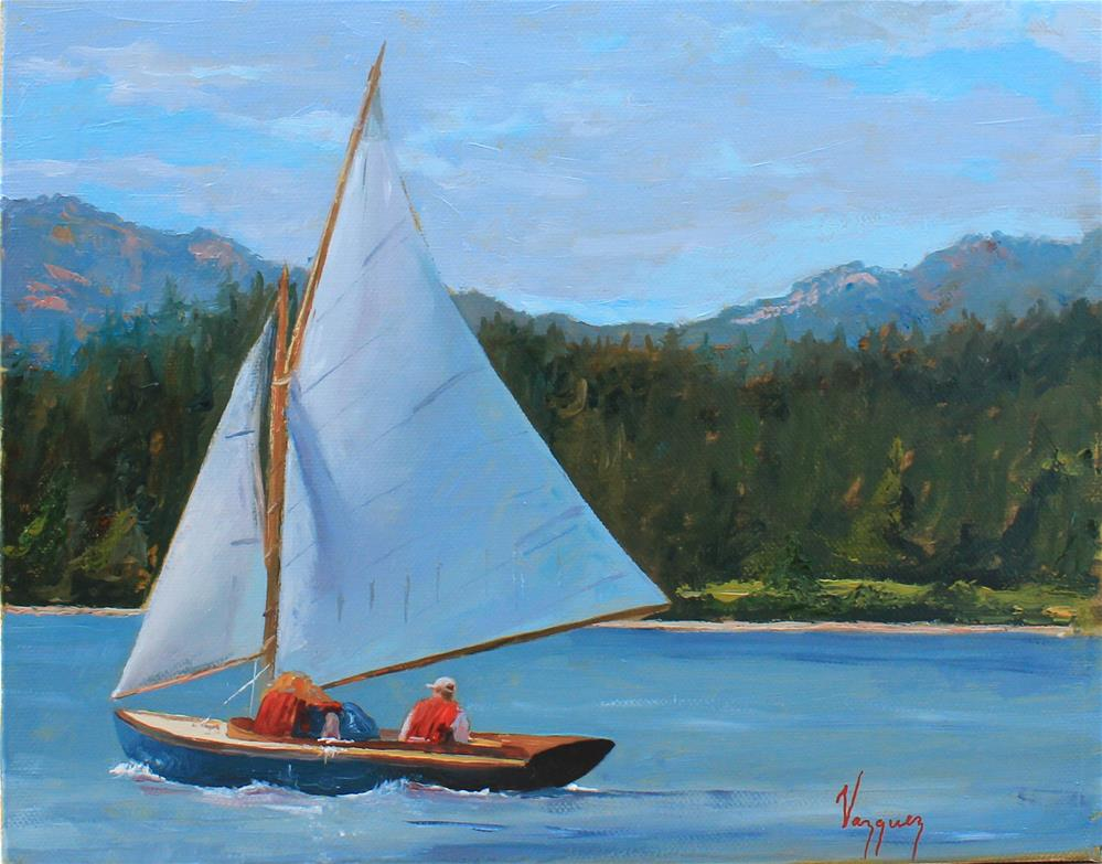 """Sailboat"" original fine art by Marco Vazquez"