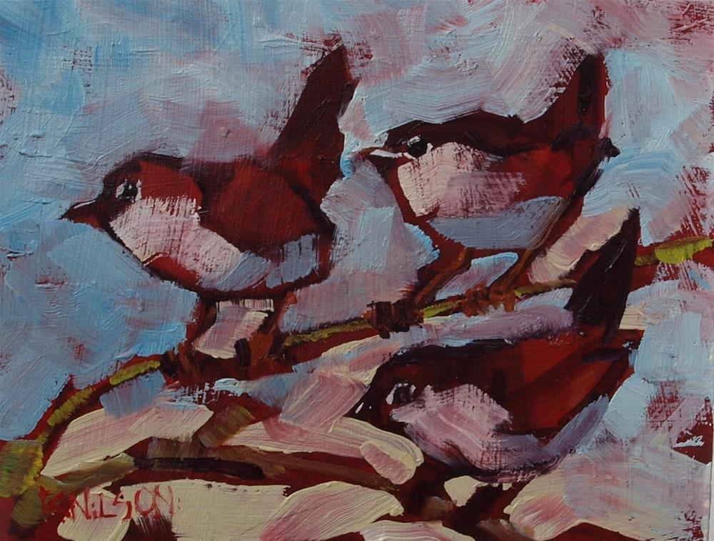 """Little Birdies"" original fine art by Rick Nilson"