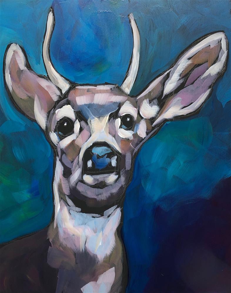 """""""Hey Jude"""" original fine art by Kat Corrigan"""