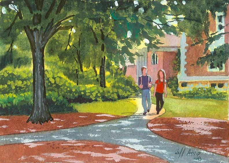 """Auburn Afternoon"" original fine art by Jeff Atnip"