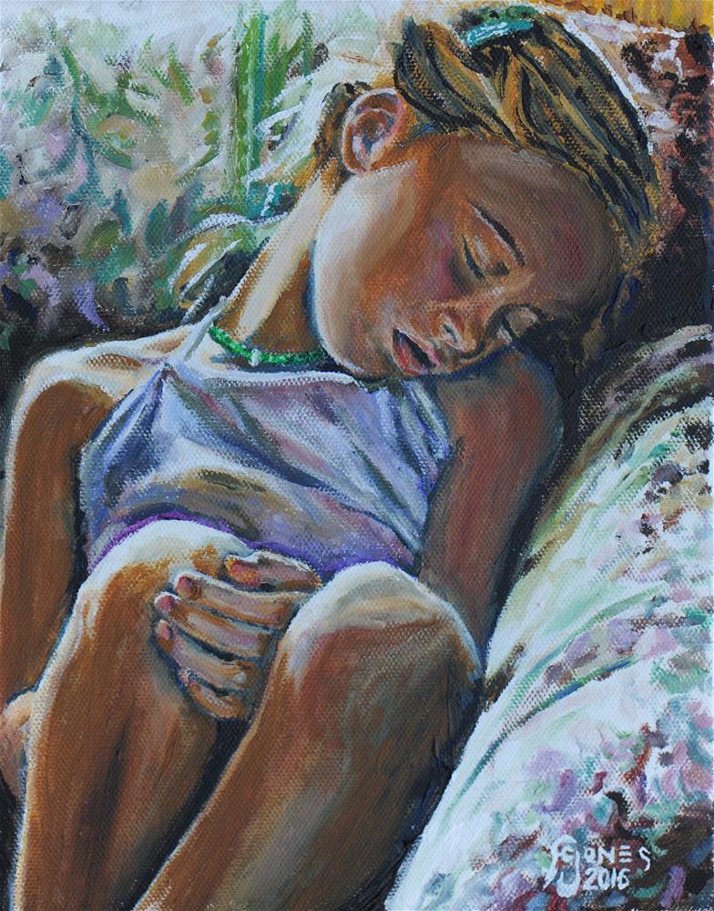 """On Grandma's Couch"" original fine art by Fred Jones"