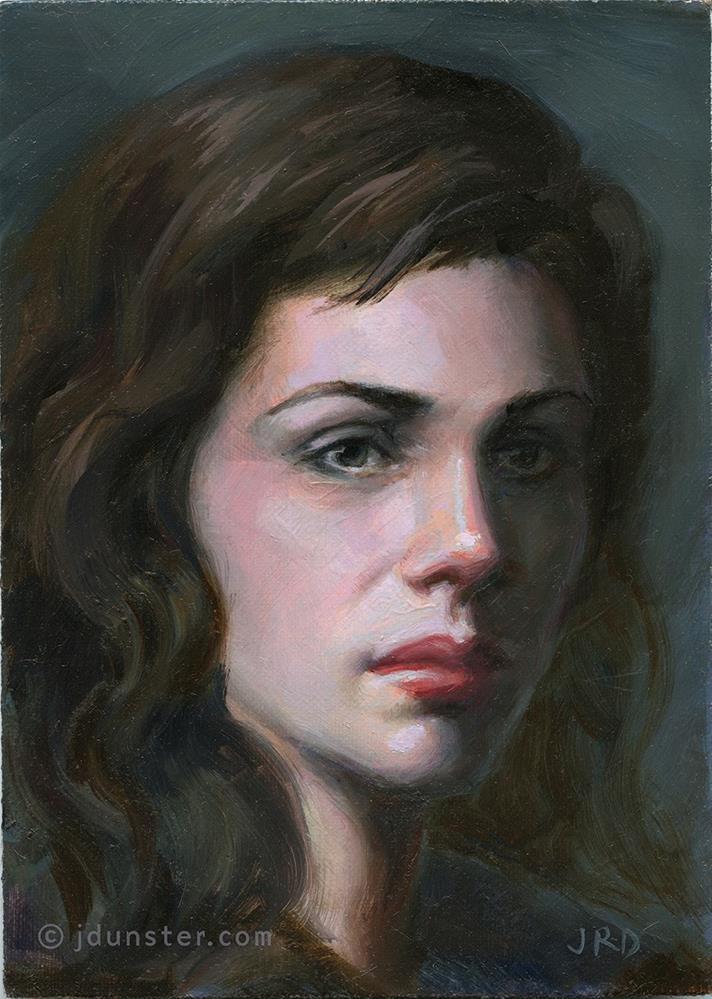 """Value & Edges Study"" original fine art by J. Dunster"
