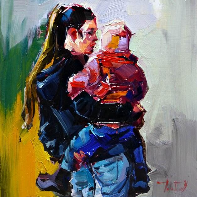 """""""Zu Zweit"""" original fine art by Jurij Frey"""