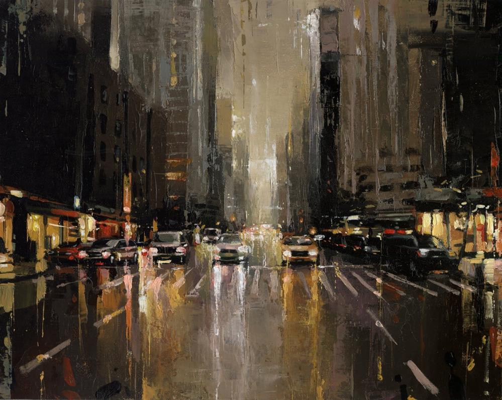 """2nd Ave & 43rd Street "" original fine art by Victor Bauer"