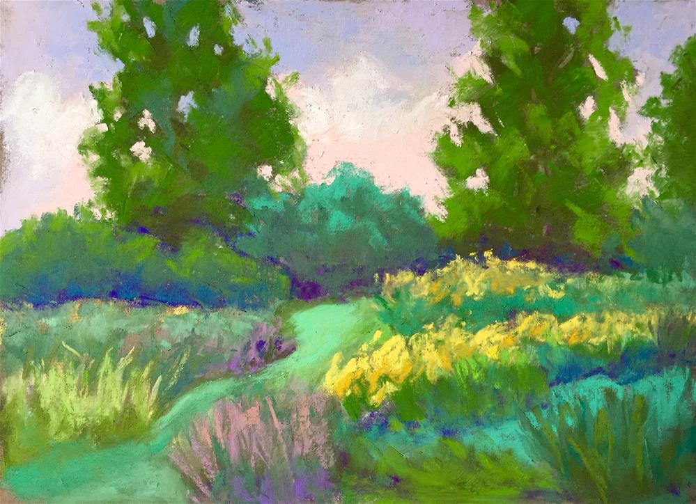 """Trail Home"" original fine art by Sandi Miller"