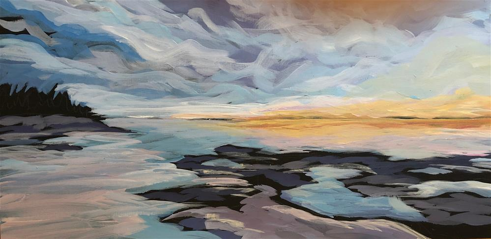 """Far Reaching Light"" original fine art by Kat Corrigan"