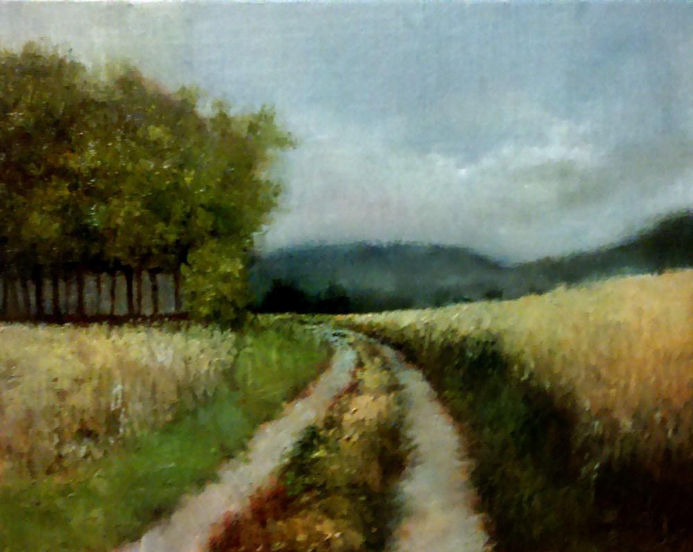 """The Road Around the Trees"" original fine art by Bob Kimball"
