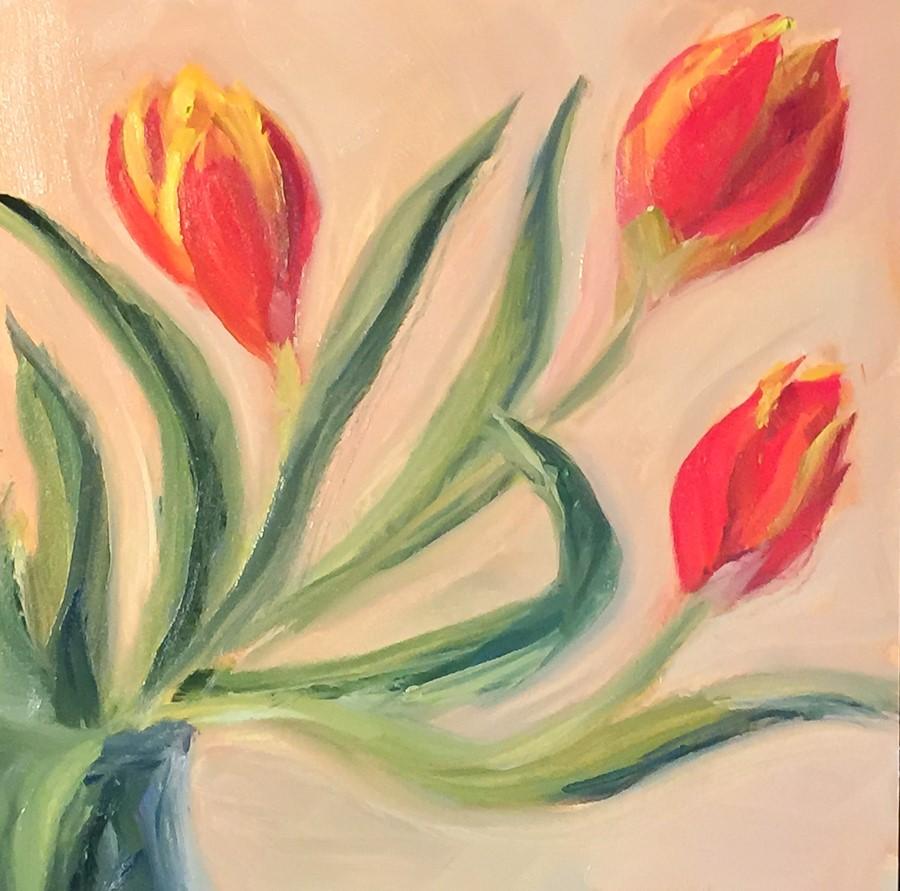 """#111 - Tulips"" original fine art by Sara Gray"