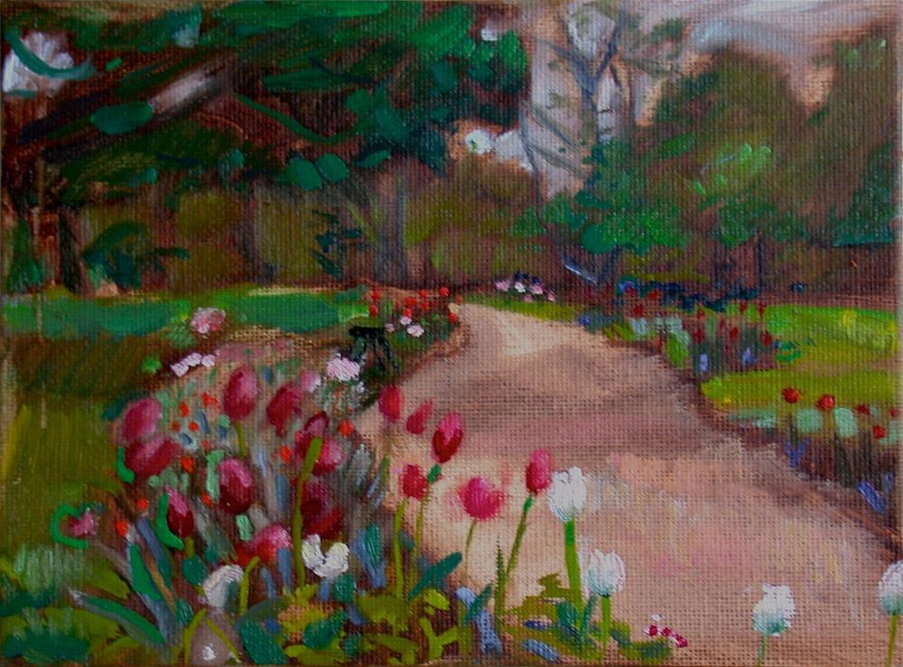 """Spring Garden, Monticello"" original fine art by Polly Turner"