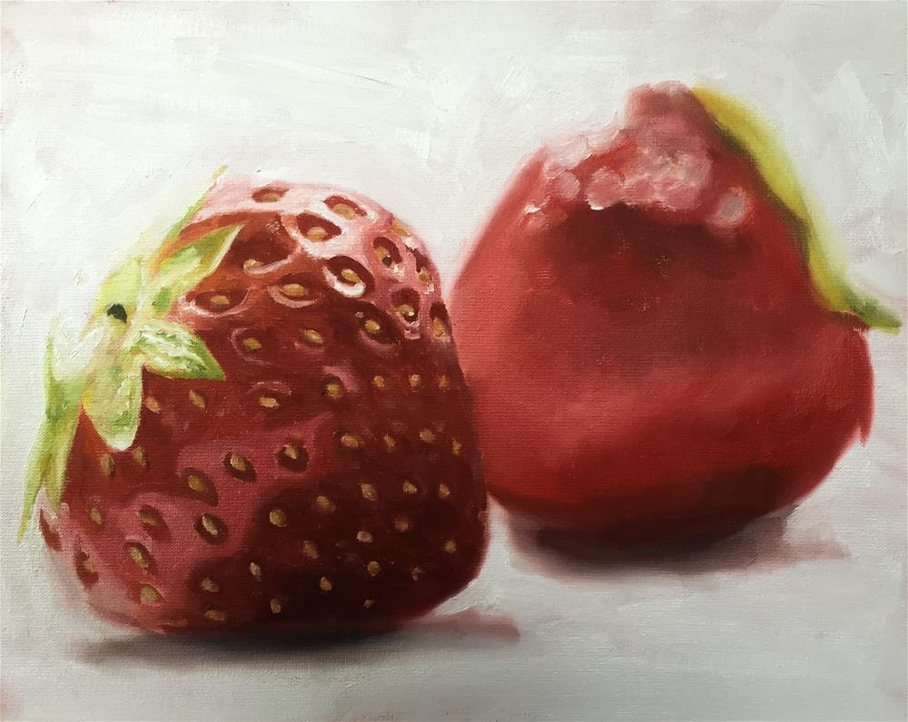 """Strawberries"" original fine art by James Coates"