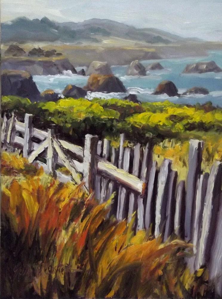 """South end of the North Coast"" original fine art by Erin Dertner"