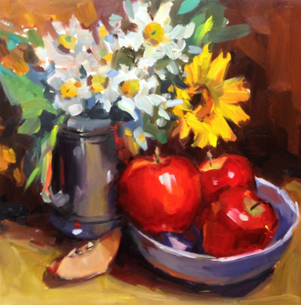 """The Apples Study - II"" original fine art by Laurie Johnson Lepkowska"