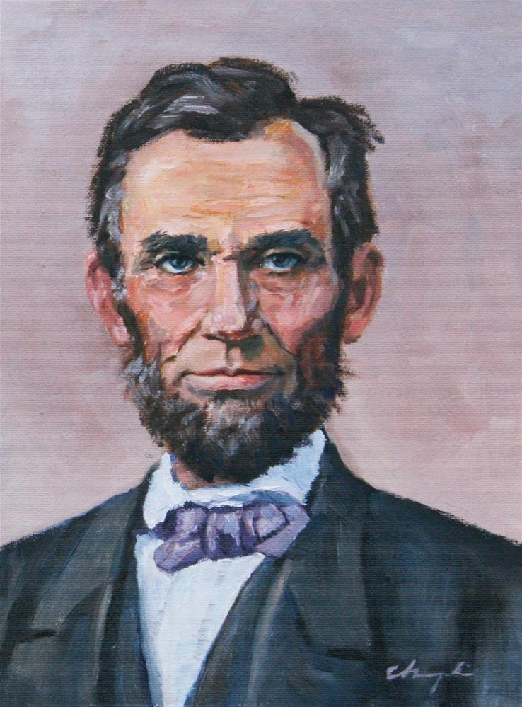 """Lincoln"" original fine art by Chuang Liu"