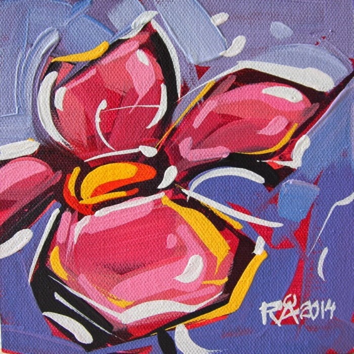 """Flower Abstraction 91"" original fine art by Roger Akesson"