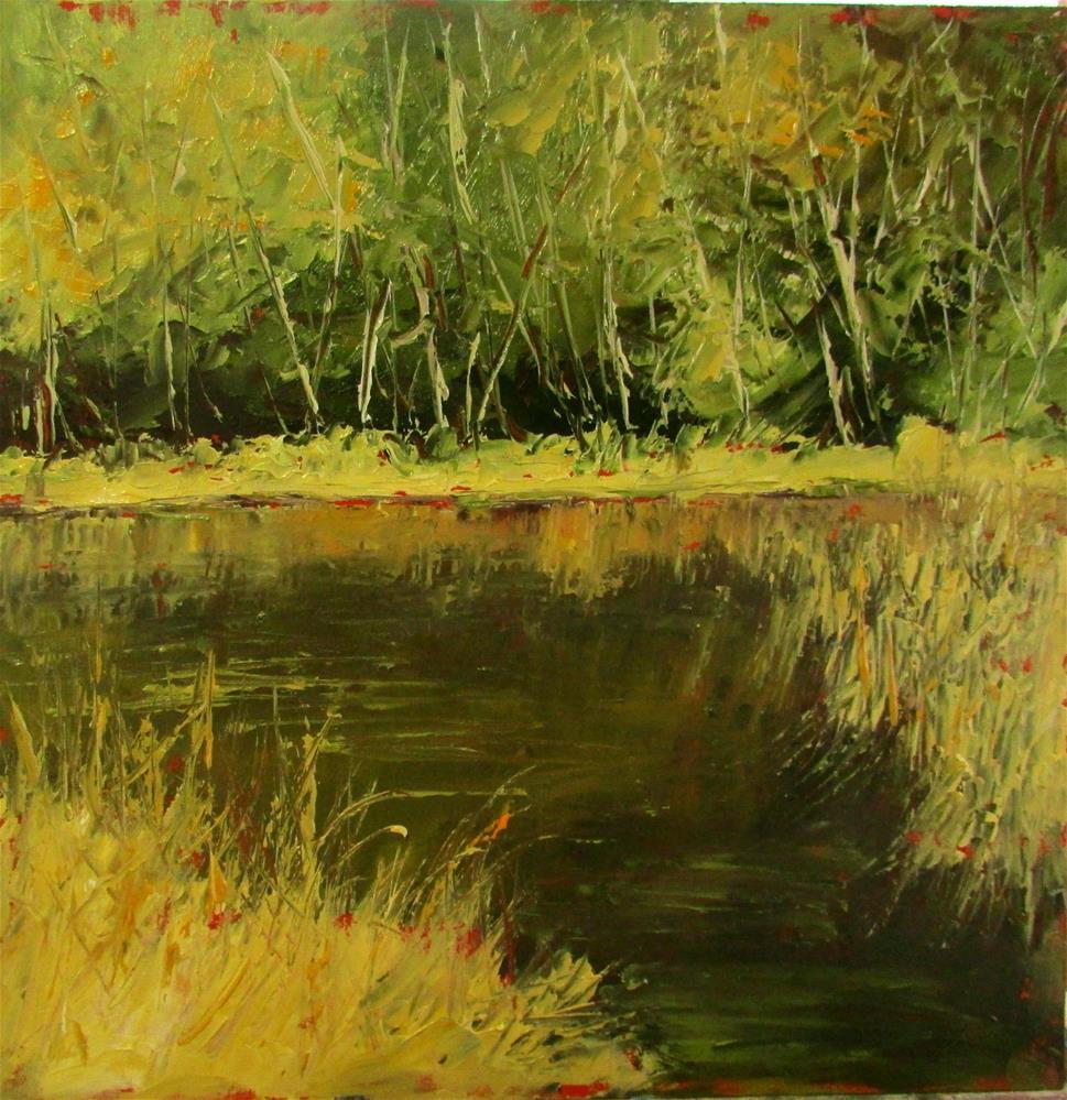 """8 x 8 inch oil Somenoes Creek #2"" original fine art by Linda Yurgensen"