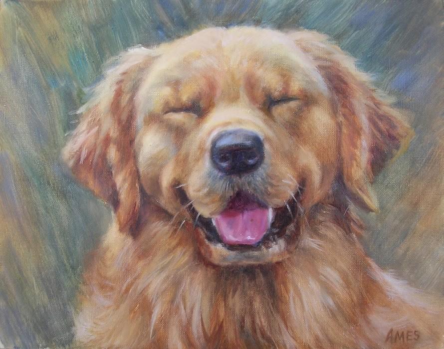 """Happy Face"" original fine art by Debra Ames"