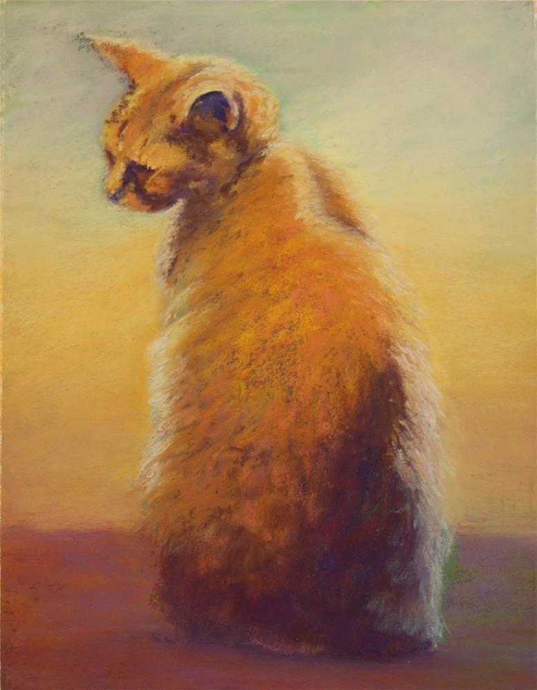 """Halloween Cat"" original fine art by Sharon Lewis"