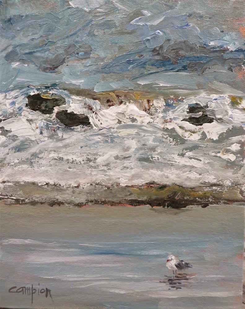 """569 Plymouth Beach, Massachusetts"" original fine art by Diane Campion"