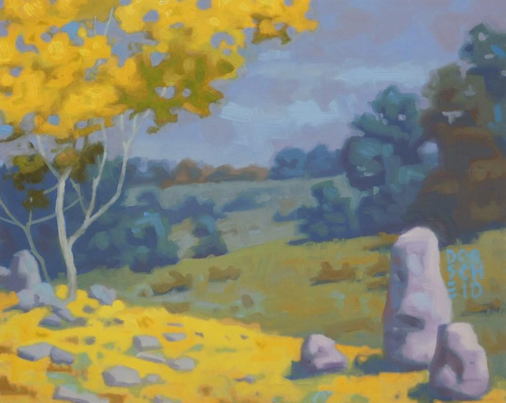 """""""Tranquil Pasture"""" original fine art by Les Dorscheid"""