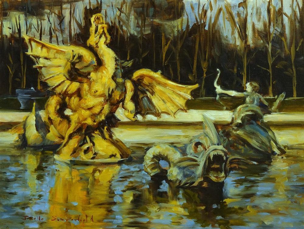 """Dragon and Sea Monsters"" original fine art by Jonelle Summerfield"