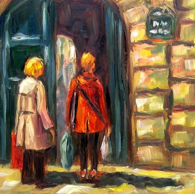 """Are We Here?"" original fine art by Irina Beskina"