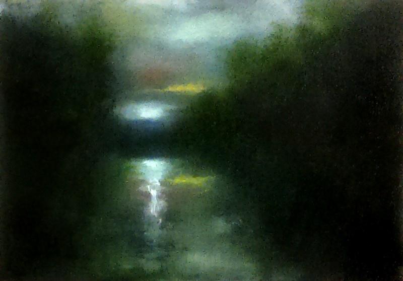 """Moonrise"" original fine art by Bob Kimball"