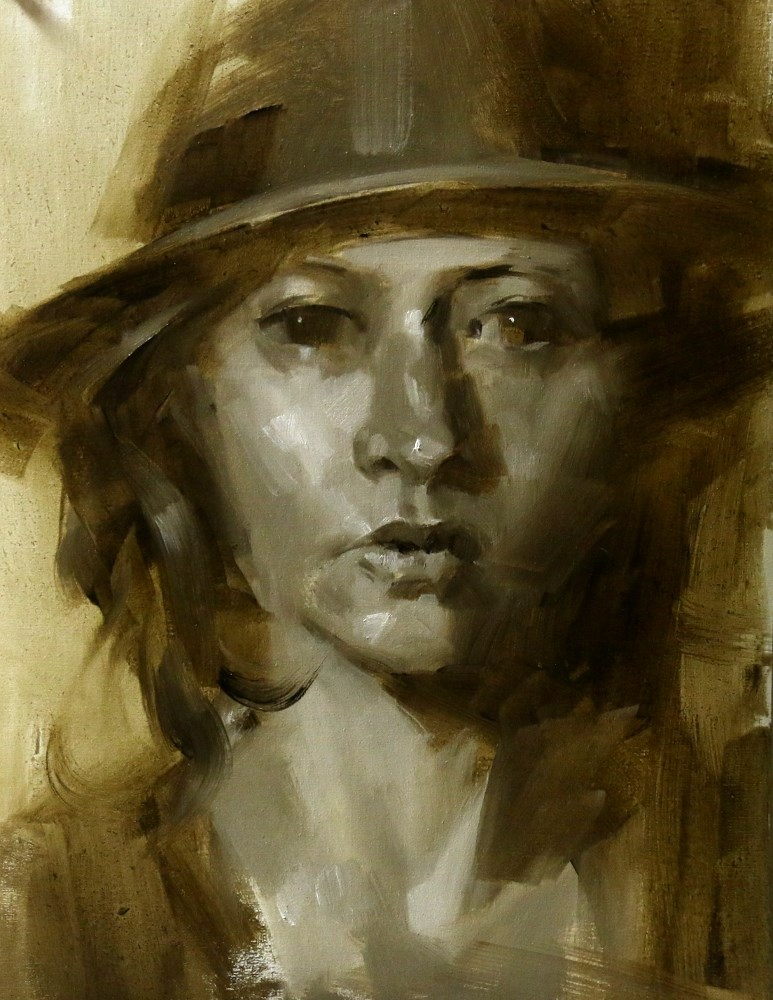 """Head Study 052015"" original fine art by Qiang Huang"