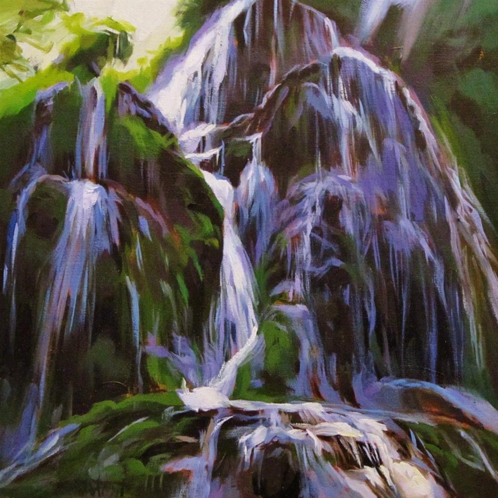 """Waterfall #2"" original fine art by Víctor Tristante"