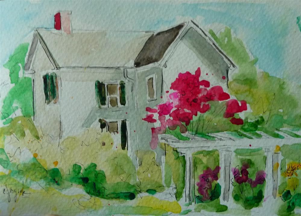 """Crepe Myrtles in Virginia"" original fine art by Carol Josefiak"