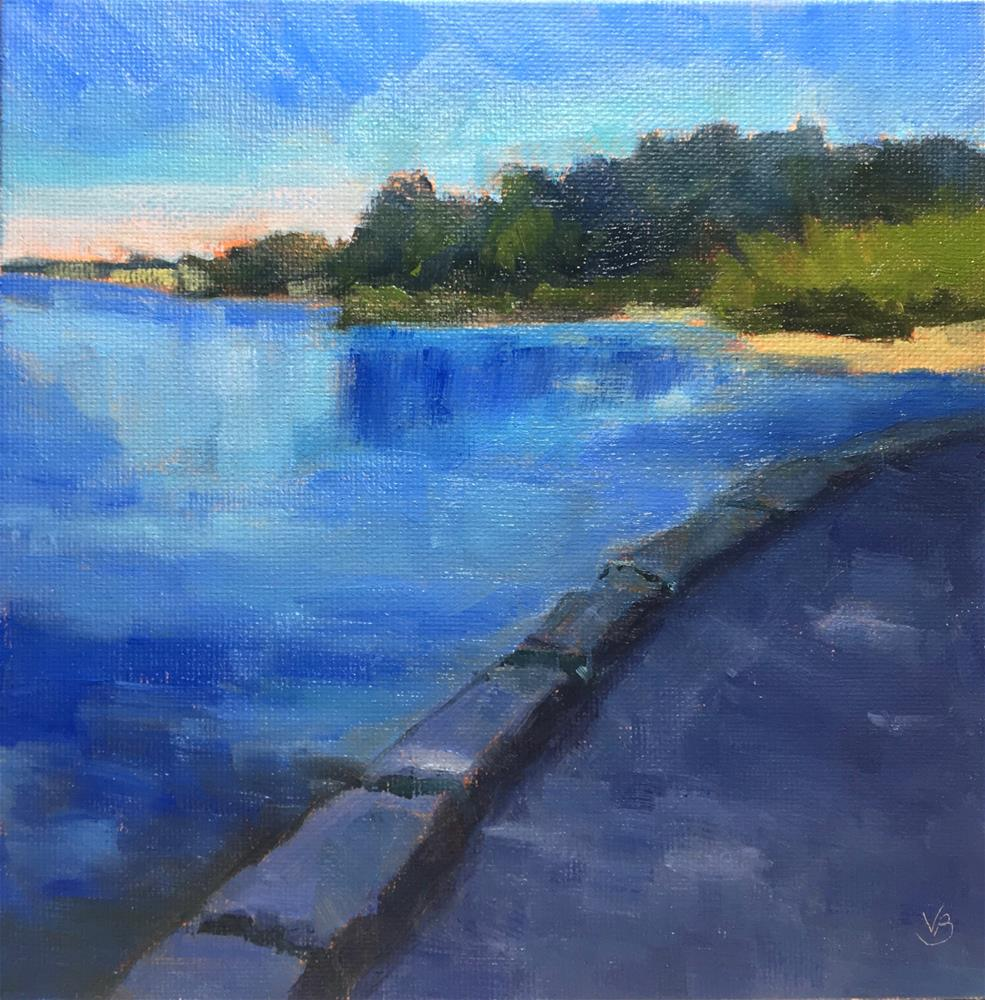 """""""On the Seawall, Vancouver, BC"""" original fine art by Victoria  Biedron"""