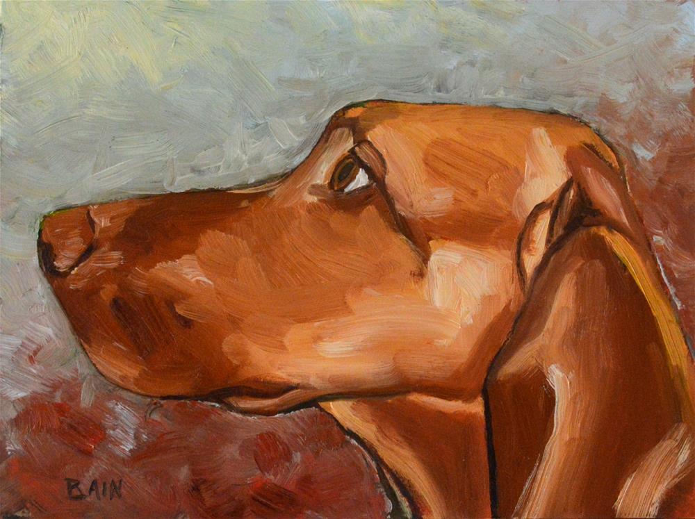 """By a Nose"" original fine art by Peter Bain"