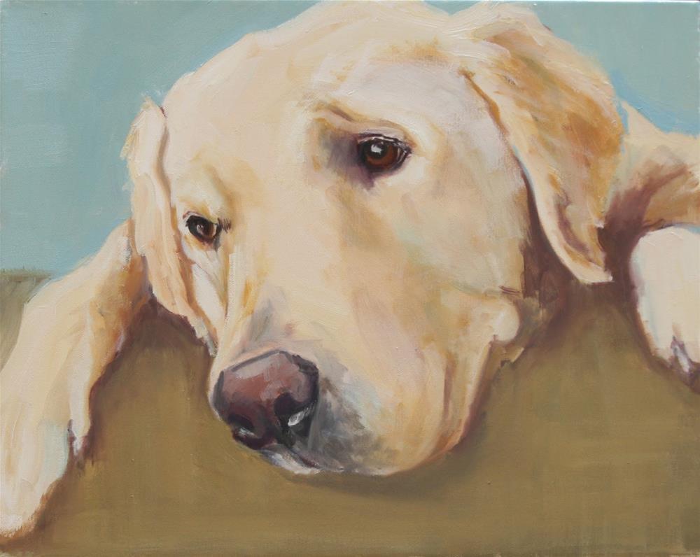 """""""dog tired"""" original fine art by Carol Carmichael"""