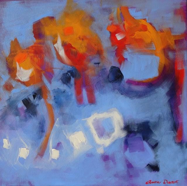 """I Am Doing Laundry…"" original fine art by Anne Ducrot"