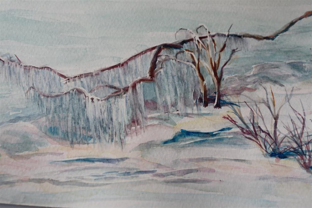 """White on White"" original fine art by Maggie Flatley"