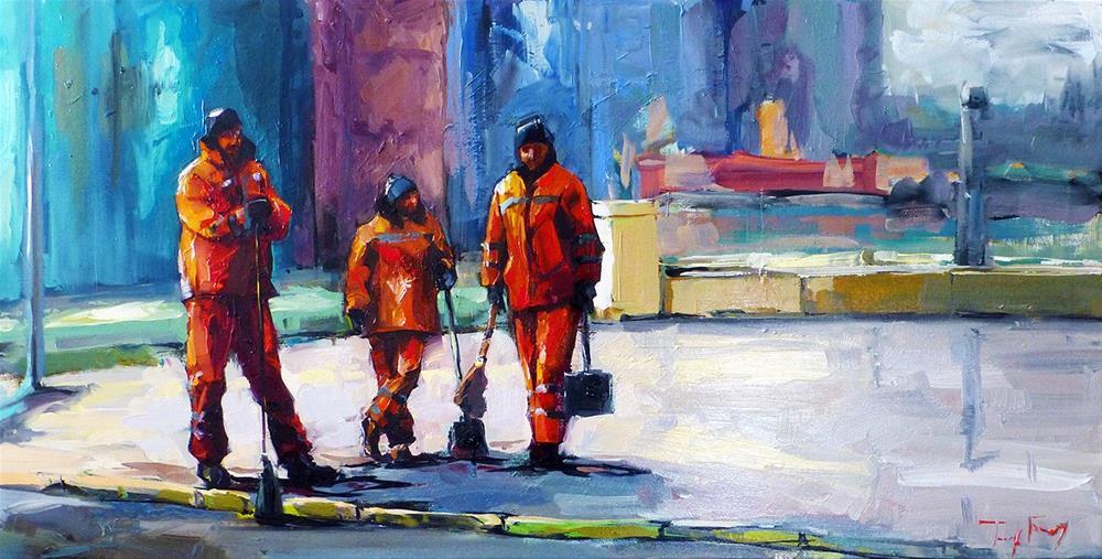 """Team"" original fine art by Jurij Frey"