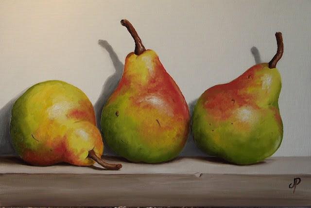 """Blush Pears"" original fine art by Jane Palmer"