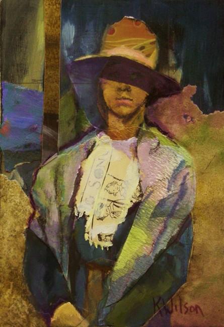 """""""Wide Rim Brown Hat"""" original fine art by Katie Wilson"""