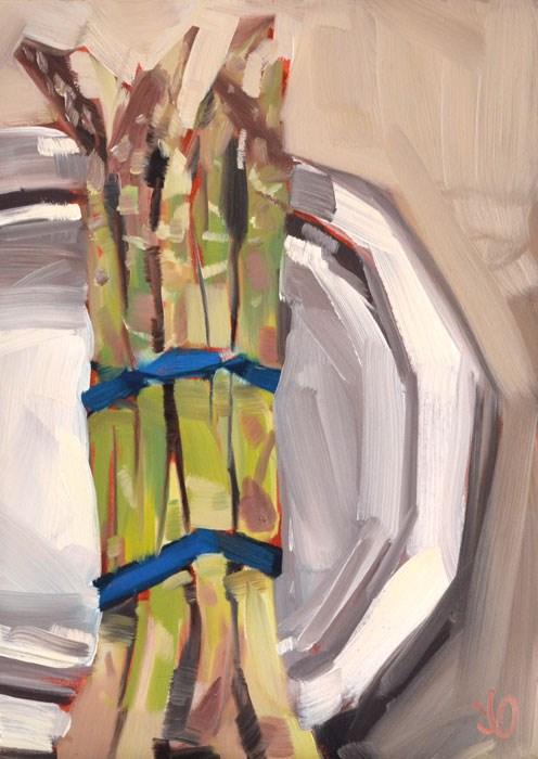 """""""Asparagus"""" original fine art by Jessica Green"""
