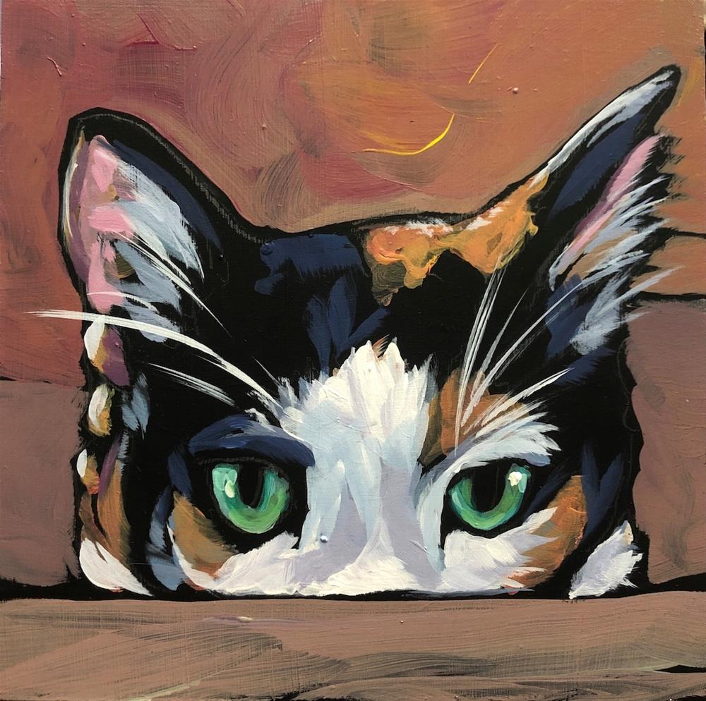 """Lydia Peeping"" original fine art by Kat Corrigan"