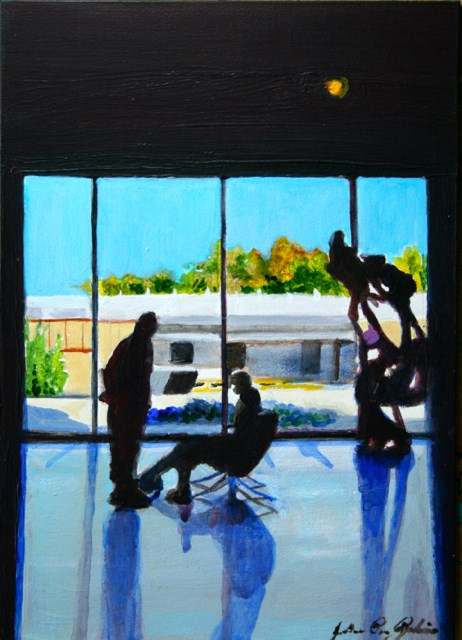 """Abstract Sillohettes"" original fine art by JoAnne Perez Robinson"